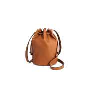 Mossimo Drawstring Crossbody Bucket Faux Leather