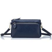 Aladin Small Leather Crossbody Bag / Wristlet Purse 2 In 1 Handbag for Women Teen Girls