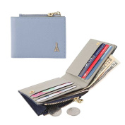 Jnjstella Women's Genuine Leather Half Card Case Coin Wallet