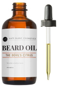 Beard Oil & Leave-in Conditioner (60ml) - The Devil's Citrus by Kate Blanc. Citrus & Sweet. Promote Faster Beard Growth & Softer Fuller Beard, Relieves Itchiness, Flakes, Dandruff. Jojoba & Argan Oil