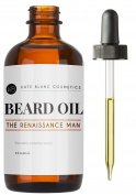 The Renaissance Man by Kate Blanc. Cedarwood & Pine Trees Smell. Faster Beard Growth & Softer Fuller Beard, Relieves Itchiness, Flakes, Dandruff. Jojoba & Argan Oil