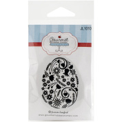 Gourmet Rubber Stamps Cling Easter Egg Pattern Stamps, 7cm x 12cm
