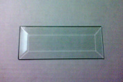 7.6cm X 13cm Clear Glass Bevels-Pack of 6