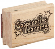 "Centre Enterprise C397 ""COOPERATIVE LEARNING WITH STARS"" Maple Wood Stamp"