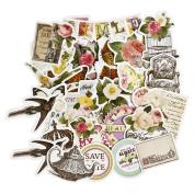 FaCraft Scrapbooking Stickers Ephemera Embellishments Die-Cut Pack,Happy Valentine's Day,25 Pieces Assorted Decorative Paper