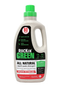 Rockin' Green Natural Liquid Laundry Detergent, Gentle Yet Powerful Laundry Soap, HE Rated - Up to 80 Loads Per Bottle, Smashing Watermelons