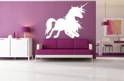 Wall Decal Sticker Bedroom Unicorn Magic Horse Dream Cartoon Kids Girls Boys Teenager Room 596b