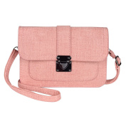 MINICAT Women Simple Series Small PU Leather Crossbody Cell Phone Purse Wallet