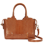 Hynes Victory Crocodile Pattern Top Handle Handbags