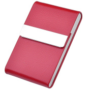 Ayliss Top Quality Stainless Steel Leather Magnetic Shut Bussiness Card Holder