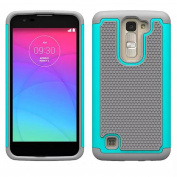 Voberry® Shock Proof Dual Layer Soft Rubber Impact Armour Case For LG K7