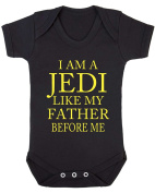 I Am A Jedi Like My Father Before Me Baby Vest.
