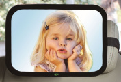 Baby Car Mirror, Large Rectangle Shape, 100% Shatterproof, Ready Assembled, Fully Adjustable, Incredibly Easy to Fit, Anti-Judder Fixing Straps, Quick Instal, PREMIUM QUALITY
