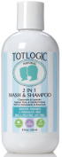 TotLogic 2 in 1 Body Wash & Shampoo - 240ml, No Sulphates, No Phthalates