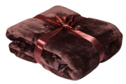 Brand Sseller - Blanket Microfibre Cashmere Feeling Various Colours & Sizes, Polyester, brown, 150 x 200 cm