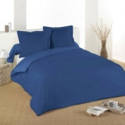 Lovely Casa HC24820001 Alicia Duvet Cover, 100% Cotton, 200 x 200 cm, Blue Jean, 200 x 200 cm
