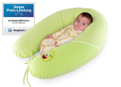 Quality Baby nursing pillow, pregnancy pillow from Sei Design 190 x 30cm, filling consisting of fibre balls - very soft and comfortable. Cover with zip and high quality embroidery