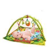 Soft Activity playmat and Musical Gym for Babies. Hanging toys.