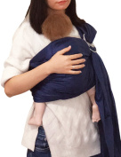 Baby Ring Sling and Wrap Adjustable Lightly Padded Ergo Baby Carrier for Newborn Large Breastfeeding Privacy by Vlokup Dark Blue