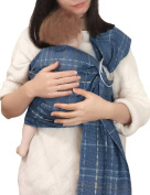 Baby Ring Sling and Wrap Adjustable Lightly Padded Ergo Baby Carrier for Newborn Large Breastfeeding Privacy by Vlokup Blue Plaid