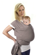 Baby Sling Carrier. Soft, Natural Cotton for Newborns to 16kg, Stylish & Comfortable Baby Wrap (Grey) by Miracle Baby