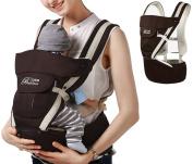 ELENKER Adjustable 4 Positions Carrier 3D Backpack Pouch Bag Wrap Soft Structured Ergonomic Sling Front Back Newborn Baby Infant