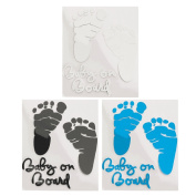 Nest of the baby - Stickers Decal Sticker Baby on Board - High Hold - Not Ruin The Paint - Removable - Male, Female and Unisex - For All Smooth Surfaces - Foot Foot grey