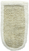 MAGIT Horsehair Glove with Cotton Sponge, White