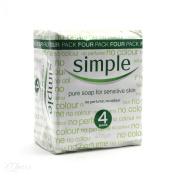 Simple Pure soap for Sensative Skin 4x125g