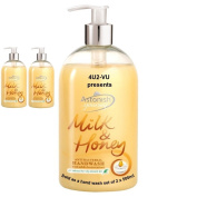 Set of 2 Antibacterial Scented Liquid Hand Wash Soap 500ml - Milk & Honey