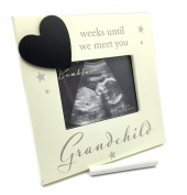 Grandchild Baby Scan Photo Frame With Countdown And Chalk FREE GIFT BAG