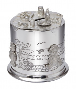 Pewter Child's Teddy Bear's Picnic Money Box - Made in Sheffield England