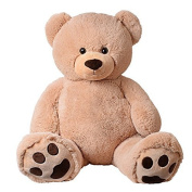TE-Trend XXL Giant teddy Bear Stuffed Cuddle Animal Giant plush Big teddy bear bear Rico beige 135 cm with Paws