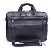 BAIGIO Leather Briefcase Laptop Shoulder Bag