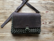 Handmade Leather Yarn Cross Body Bag Miss Tender Woman Accessories