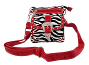 Zebra Print Rhinestone Buckle Cross Body Bag