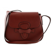 Made In Italy Genuine Leather Shoulder Bag Colour Red Tuscan Leather - Woman Bag