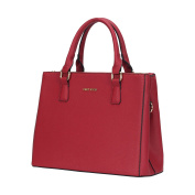 Veevan Saffiano Pattern Synthetic Leather Womens Totes Shoulder Handbags