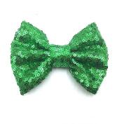 PrettyBoutique 10cm Girls Sequin Glitter Sparkle Hair Bow Clip Accessories