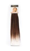 1st Lady Silky Straight Natural European 3 pcs Clip on Human Hair Extension with Premium Blend, Number P1B/ .   Black/Auburn, 46cm 28g