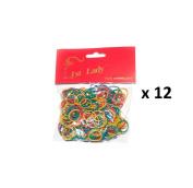 1st Lady - Rubber Hair Bands Colour Mixed Multi - Colour - 3000pc (1 Dozen) #595