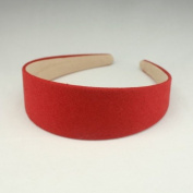 "Annielov 40mm (1 1/2"") Plastic headband covered with cotton linen fabric Wide Headbands Hair accessories headband Alice band #2289 Red"