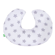Lulando Nursing Pillow Neck Pillow Travel Pillow For Children and Adults, Farbe:Sternchen Grau
