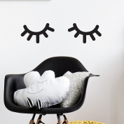 Booizzi Cute Sleepy Eye Lashes Wall Sticker Decals - Girls Scandinavian Style Bedroom Nursery Decoration