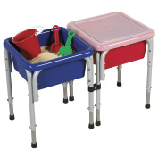 ECR4Kids Square Sand and Water Tables with Lids, 2 Stations by ECR4Kids