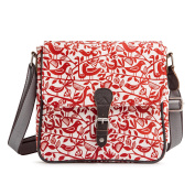 Nicky James Red Doves Print Ladies Satchel