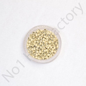 Nano Micro Copper Rings Beads 2.4mm - Beige - Amount-200