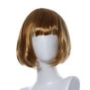 Fulltime(TM) Masquerade Small Roll Bang Short Straight Hair Wig Cosplay Party Halloween Christmas Short Straight Hair Wigs