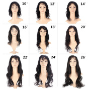 Life Diaries Loose Body Wave 180% Density Glueless 10cm Part Lace Front Wigs 8A Unprocessed Brazilian Virgin Human Hair Natural Hairline Bleached Knot Free Part