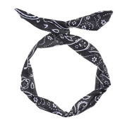 Paisley Wire Headband - Black